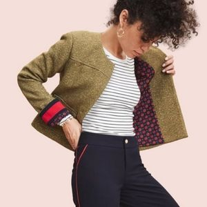 A New Day green gold tweed cropped jacket crop